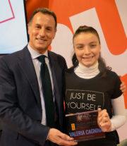 Stefano Scabbio e Valeria Cagnina durante la premiazione