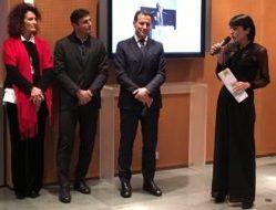 Elena Gelosa, Javier Zanetti, Stefano Scabbio e Serena Scarpello, direttore di Linc
